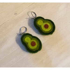 Avacado wool felt Earrings! - Punch Needle Supplies NZ