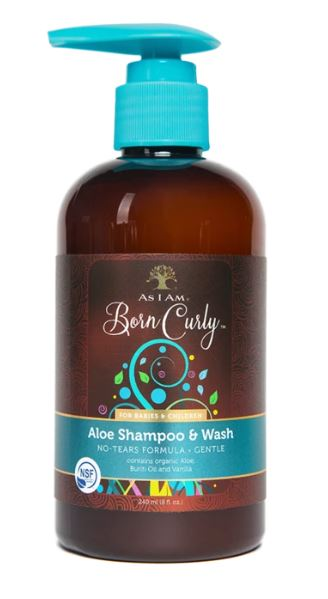 As I Am Born Curly Aloe Shampoo and Wash