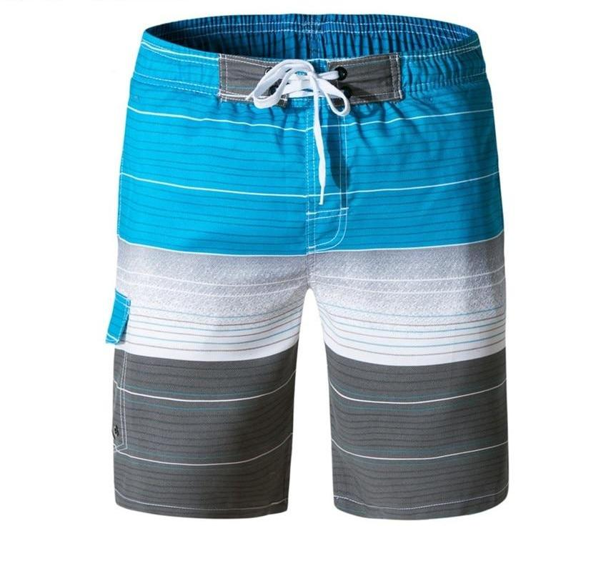 cadd53255117 Newly Design Mens Breathable Striped Lace-up Board Shorts Swimwear Trunks  with Pocket ...