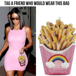 Crystal French Fry Clutch