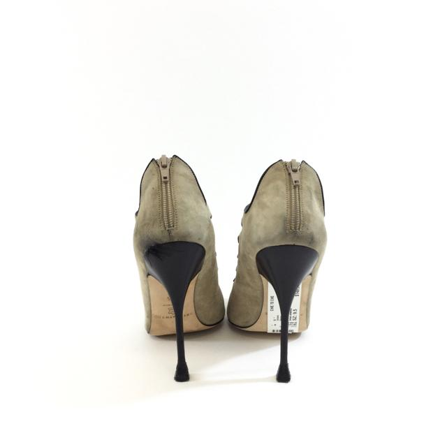 Brian Atwood Suede Caged Stiletto Heels. Size 9.5 - shoesbrian atwood9.5, Beige, brian atwood, GaithersburgChic To Chic Consignment