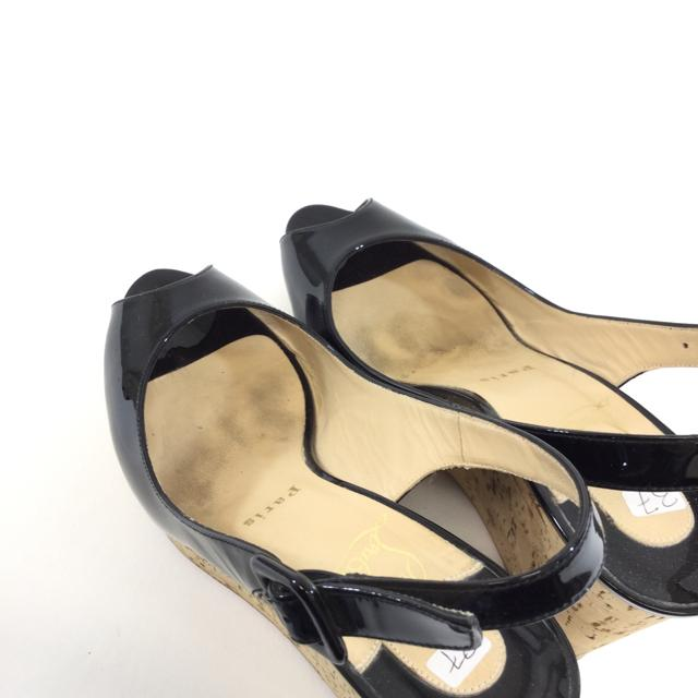 Christian Louboutin Patent Leather Wedges. Size 37 - shoesLouboutin37, Black, LouboutinChic To Chic Consignment