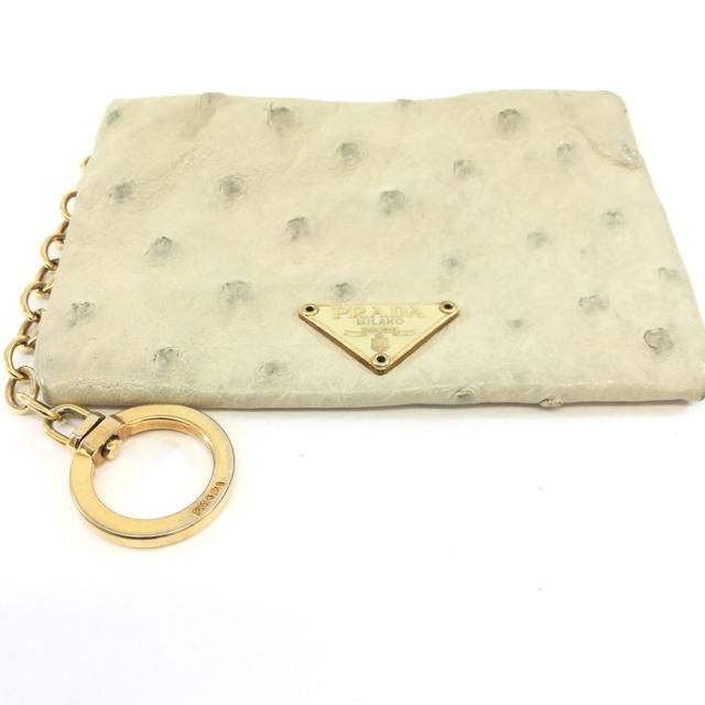 Prada Ostrich Key Pouch - Chic To Chic Consignment