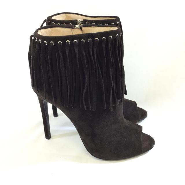 Prada Suede Open Toe Bootie - shoesPrada39, Chocolate, Gaithersburg, PradaChic To Chic Consignment