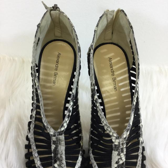 Alexandre Birman Caged Sandal Size 38.5 - shoesAlexandre Birman38.5, Alexandre Birman, blk/grey, PumpChic To Chic Consignment