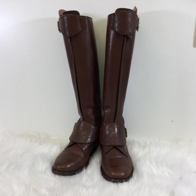Chanel Leather Riding Boots. Size 36