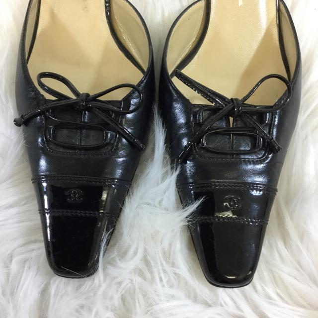 Chanel Pointed Toe Kitten Heel. Size 38 - shoesCHANEL8, Black, CHANEL, PumpChic To Chic Consignment