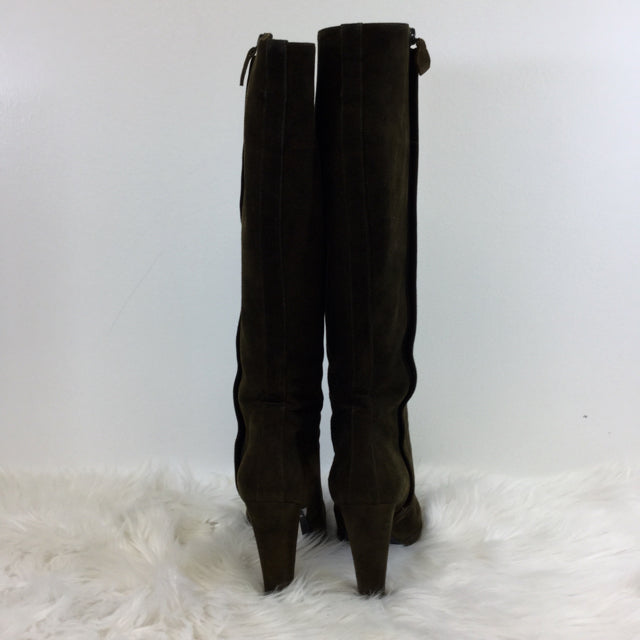 Hermes Knee High Suede Boot