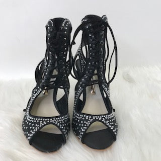 Sophia Webster Rhinestone Front Lace Up Strappy Sandals. Size 38.5