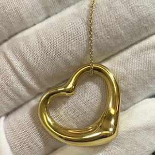 Tiffany & Co. Solid 18 Karat Ela Peretti Open Heart Pendant