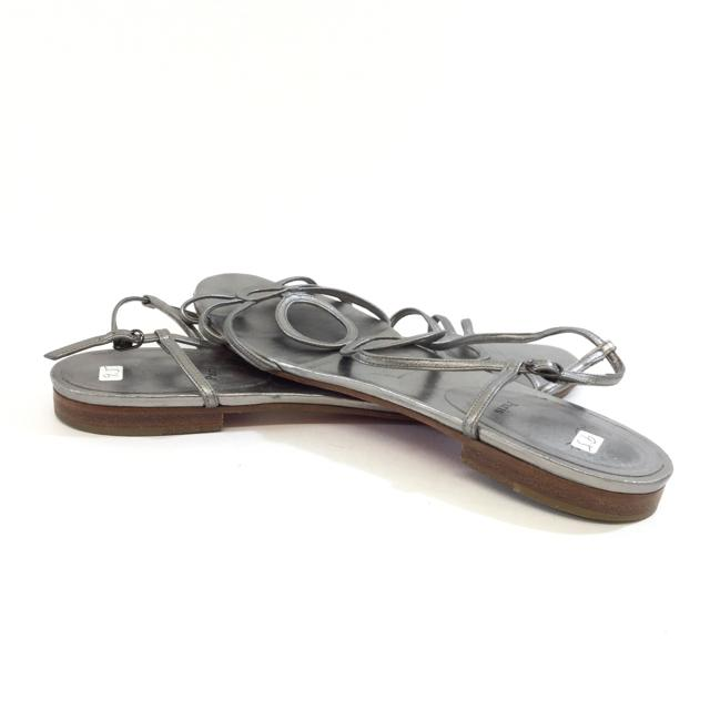 Christian Louboutin Metallic Flat Sandals. Size 40.5 - shoesLouboutin40.5, Louboutin, SilverChic To Chic Consignment