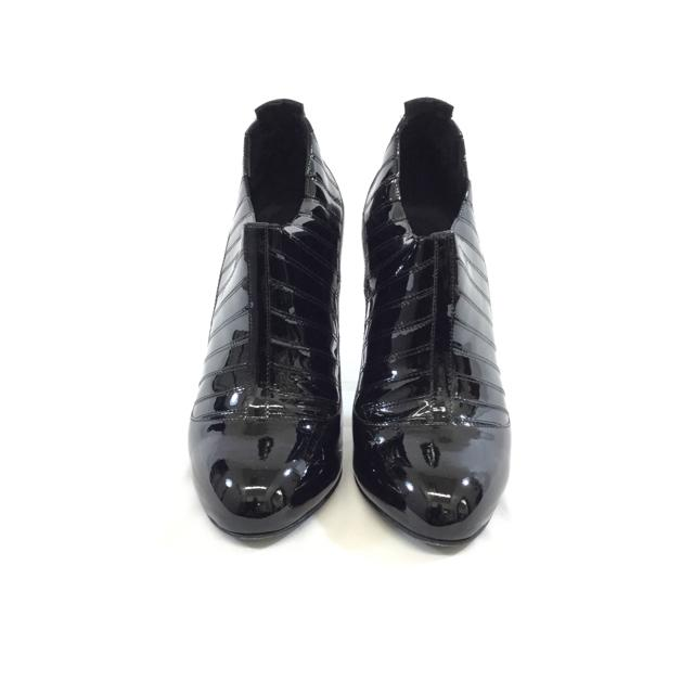 Chanel Patent Leather Heeled Ankle Booties. Size 38 - shoesCHANEL38, Black, boots, CHANEL, GaithersburgChic To Chic Consignment