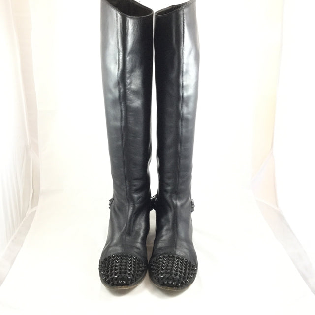Christian Louboutin Studded Riding Boots. Size 38.5