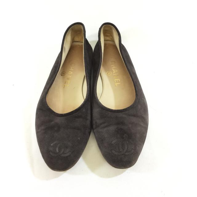 Chanel Suede Flats - shoesCHANEL38, Brown, CHANEL, GaithersburgChic To Chic Consignment