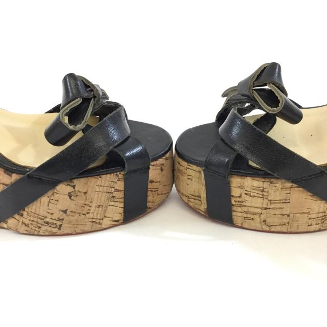 Christian Louboutin Cork Wedge Sandals. Size 39