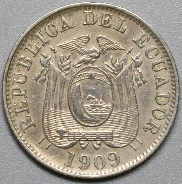 1909-H ECUADOR 5 Centavos Heaton Mint Coin (18041508RE)