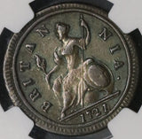 1721/0 NGC VF 1/2 Penny George I GREAT BRITAIN Rare Overdate Coin (18091003CZ)