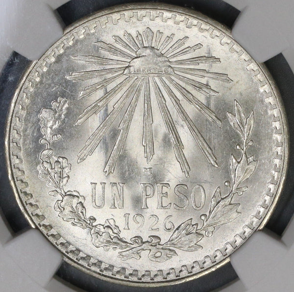 1926 NGC MS 65 MEXICO Silver 1 Peso Mint State Coin (18091002CZ)