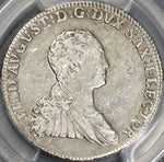 1767 PCGS XF 45 SAXONY Silver 2/3 Taler German State Coin (18050402C)