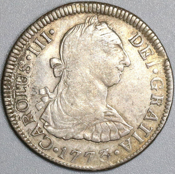 1773 MEXICO Silver 2 Reales Inverted Mint Mark Assayer Variety Coin (18041725RE)