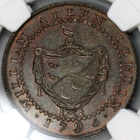 1795 NGC MS 64 Goat Conder 1/2 Penny Middlesex Allen's DH 246B (18021708C)
