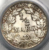 1918-D PCGS MS 65 Germany 1/2 Mark Silver Coin (18090602C)
