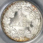 1913-F PCGS MS 67 Germany Silver 1/2 Mark Gem BU Stuttgart Mint Coin (16030102D)