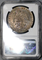 1889-As NGC MS 63 MEXICO Silver 8 Reales Coin Scarce Alamos POP 4/5 (18052501C)