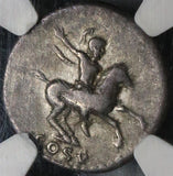 77 NGC VF Domitian Roman Empire Denarius Caesar on Horseback 5/5 4/5 (17120701D)