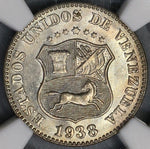 1938 NGC MS 63 VENEZUELA 5 Centimos Flashy BU Coin (18021501C)