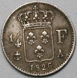 1826-A France Silver 1/4 Franc 86K Coins Minted (18030406RE)