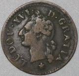 1782-& FRANCE Liard Louis XVI Aix Mint Reverse Doubled Coin (18041717RE)