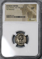 193/6 Julia Domna Denarius VENUS Roman Empire Early Type NGC XF (18032604C)
