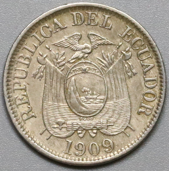 1909-H ECUADOR 2 Centavos Heaton Mint Coin (18041501RE)