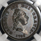 1786 NGC PF 64 Isle of Man 1/2 Penny George III Britain Proof Coin (18082607C)