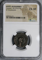 273 NGC Ch XF Aurelian Roman Empire Egypt Alexandria Tetradrachm Year 5 Reign Commemorative Coin Pedigree (17110503C)