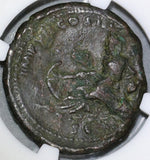 174 NGC Ch F Marcus Aurelius As Tiber River God Roman Empire Coin (18011801C)