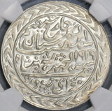 1939 NGC MS 64 JAIPUR Silver Rupee Yr 18 India State Proof Like Coin (18032203D)