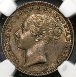 1871 NGC AU 58 Victoria Shilling Great Britain Coin Die 11 (18090819CZ)