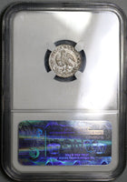 1851-Mo NGC MS 66 MEXICO GEM Silver 1/2 Real Coin POP 3/0 (17082901D)
