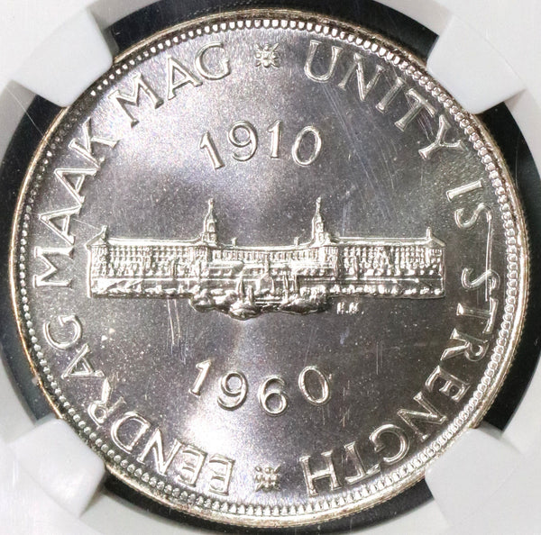 1960 NGC PF 67 South Africa Proof 5 shillings Crown Silver Coin 3360 Minted (18092009CZ)