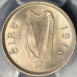 1946 PCGS MS 65 Ireland 3 Pence Bunny Irish Key Date Coin (18012901D)