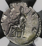 193 Julia Domna Denarius Roman Empire Vesta NGC XF Scarce Early Type (18032105C)