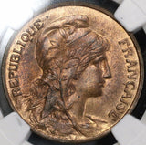 1912 NGC MS 64 RB FRANCE 10 Centimes Marianne Coin POP 2/3 (17120703C)