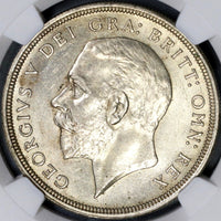 1933 NGC MS 62 Silver Wreath Crown GREAT BRITAIN Coin 7132 Minted (18032905D)