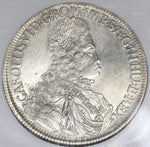 1714 NGC UNC Austria Taler Hall Mint Charles VI Silver Thaler Coin (18091105CZ)