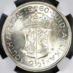 1960 NGC MS 63 SOUTH AFRICA 2 1/2 Shilllings Rare 12k Coin (17043001C)