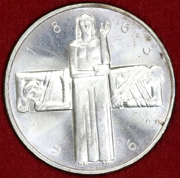 1963 SWITZERLAND Silver 5 Francs 100 yrs RED CROSS with Box (17041559RE)