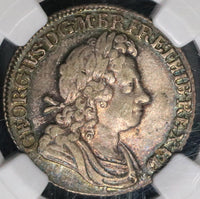 1723 NGC AU 55 South Seas Co George I Shilling Great Britain Silver Coin (18121501CZ)