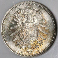1876-G NGC MS 67 GERMANY Silver 20 Pfennig BU Coin Top POP 2/0 (17052801CZ)